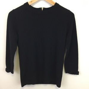 Kate Spade Wool Cashmere Sweater Gold Zipper - S